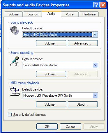 Sound and audio devices