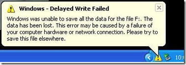 delayed write failed error