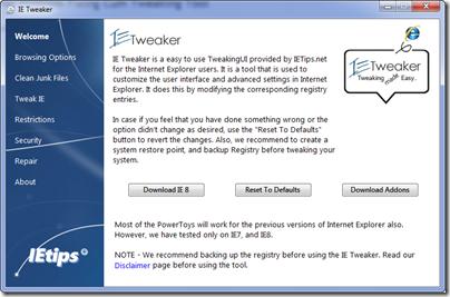 IE-Tweaker