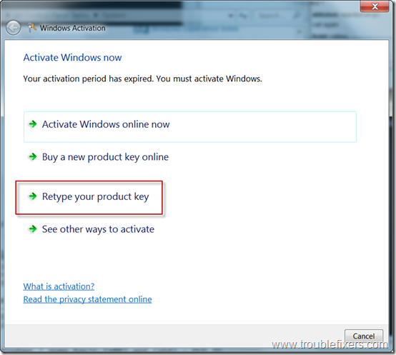 retype-product-key-to-activate-windows