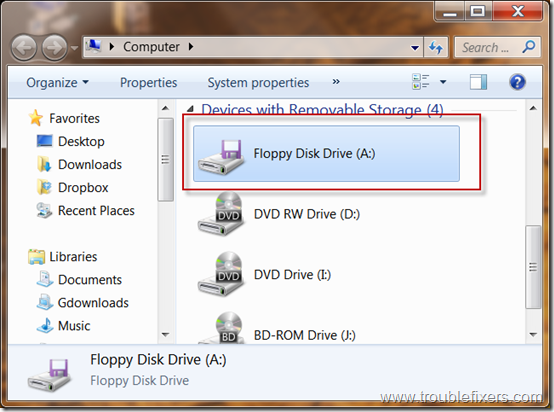 floppy drive icon in my computer