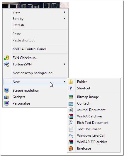 right-click-new-menu