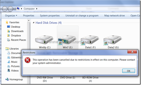 drive-access-restrcited-in-windows-7