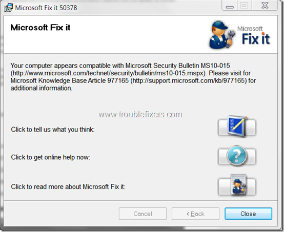 microsoft-fix-it-analysis-tool