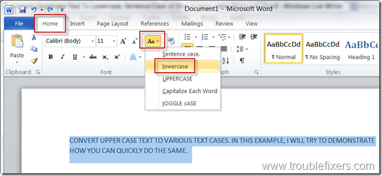 Convert-any-text-to-lower-case