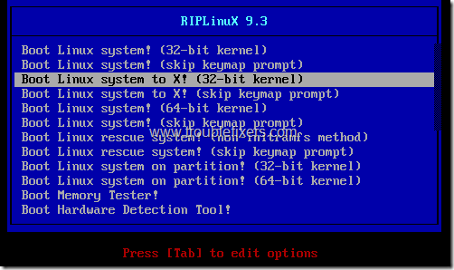 RIP Linux Boot Options