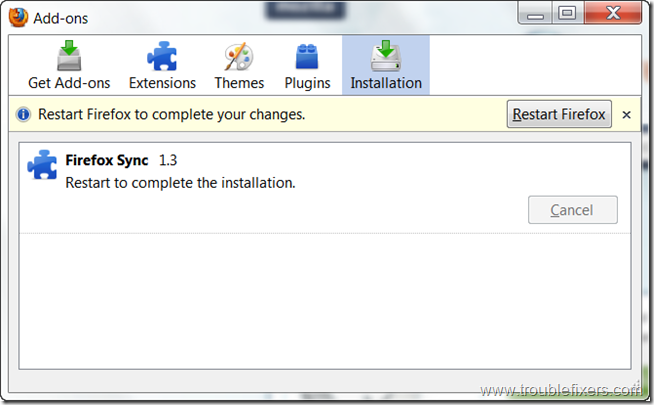 firefox-sync-installation-complete