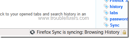 firefox-sync-message-in-status-bar