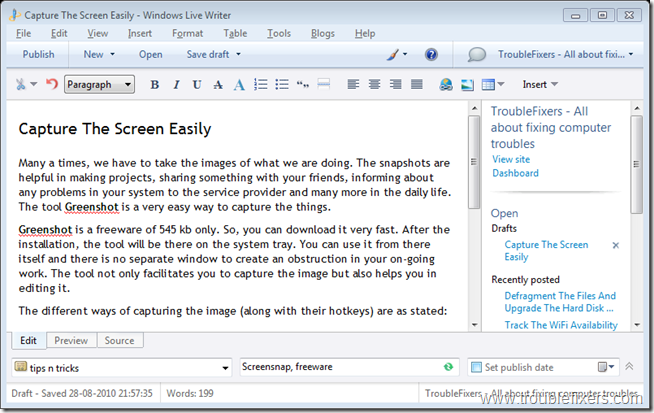 Capture The Screen Easily - Windows Live Writer_2010-08-28_21-58-25