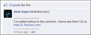 added-simlies-to-facebook-comments