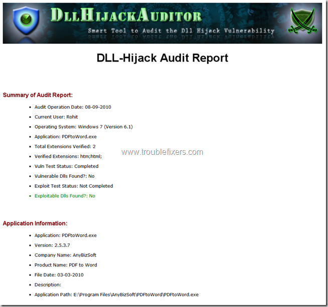 dll-hijack-auditor-report