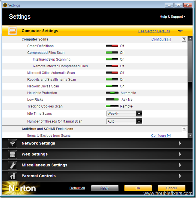 norton-is-2011-settings