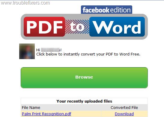 PDF Converter on Facebook