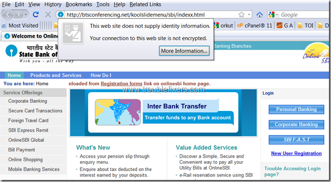sbi-fake-login-page