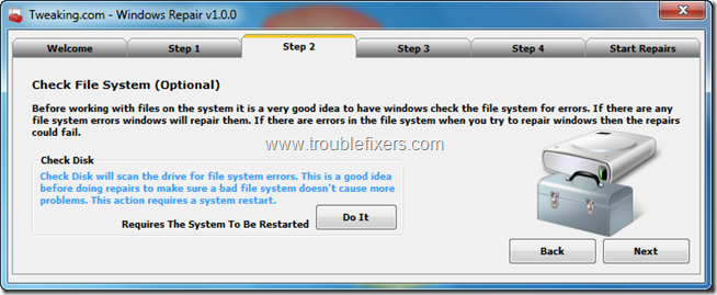 Tweaking.com - Windows Repair 3