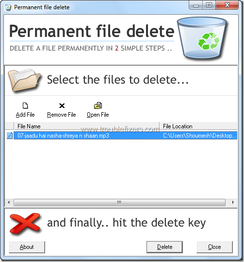 PermanentFileDelete 1