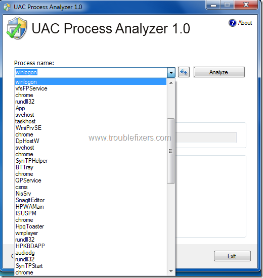 UAC Process Analyzer 1