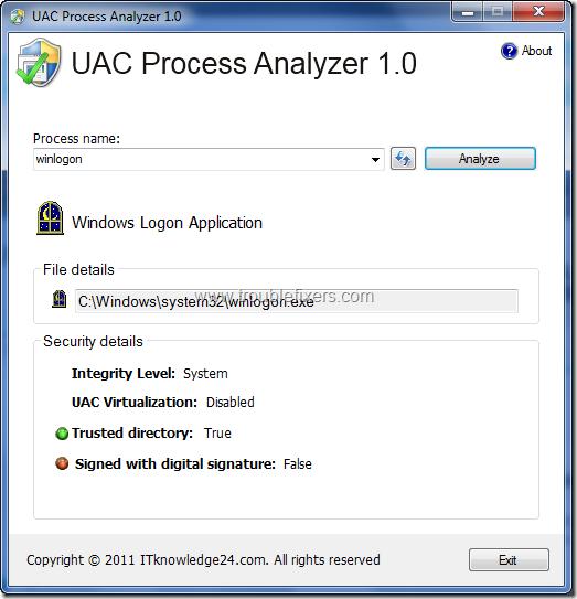 UAC Process Analyzer 2