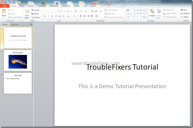 Convert PPT To PDF Using MS Powerpoint (2)