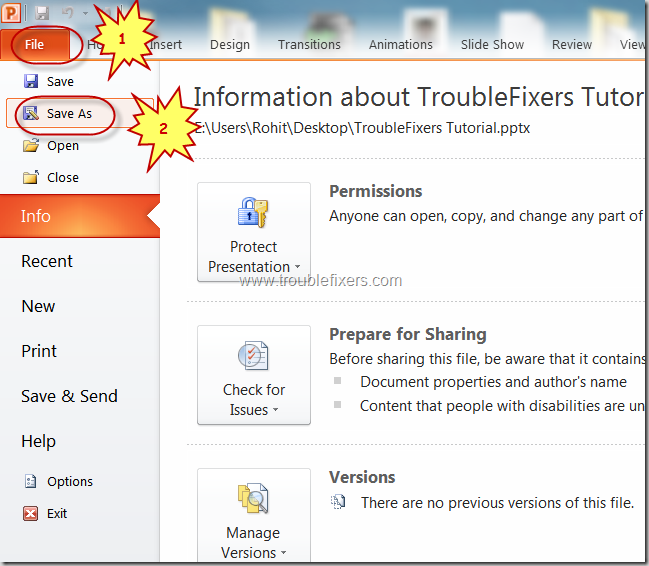 Convert PPT To PDF Using MS Powerpoint (3)
