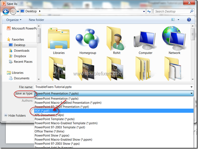 Convert PPT To PDF Using MS Powerpoint (4)