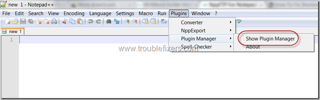 Notepad Plus plus plugin manager