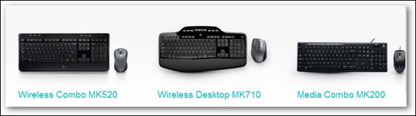 logitech wirelss keyboard combos