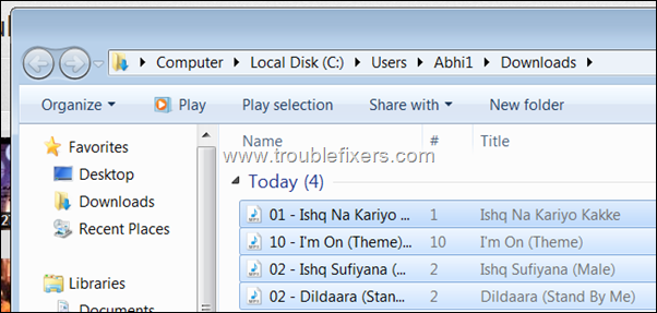 play all songs in a folder
