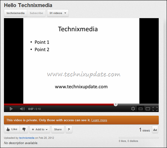 powerpoint presentation running on youtube