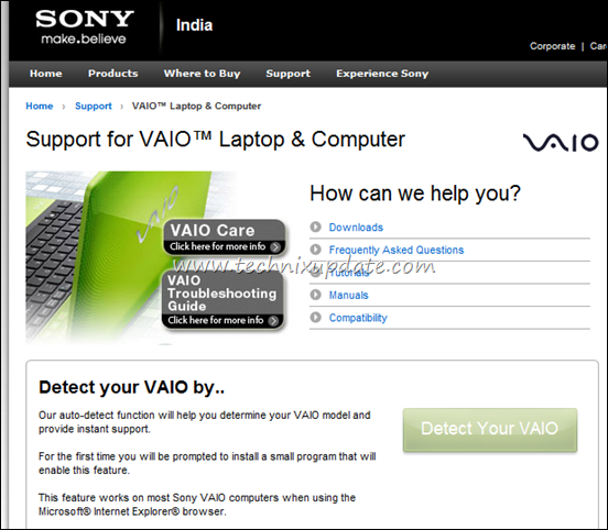 download sony vaio laptop drivers
