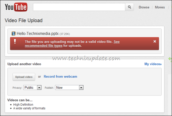 upload powerpoint ppt on youtube