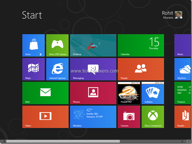 Quickly Open Control Panel in Windows 8