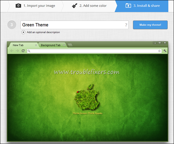 Green Theme Google Chrome