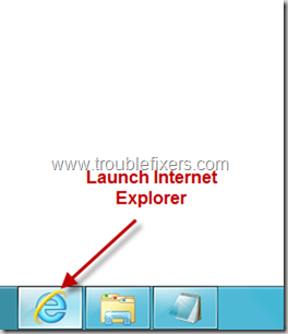 Launch Internet Explorer in windows 8