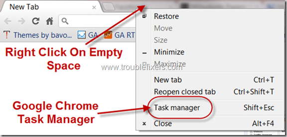 Open Google Chrome Task Manager