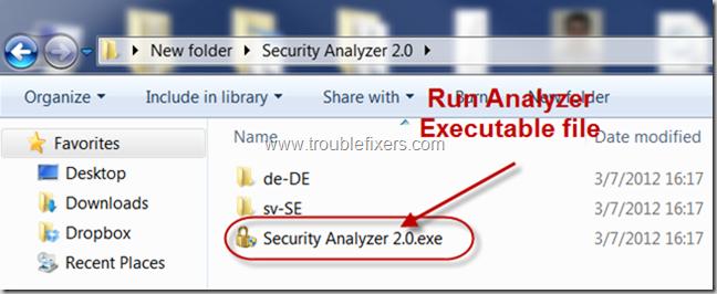 Run Security Analyzer