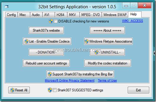 Windows 8 Media Player Codecs Installed