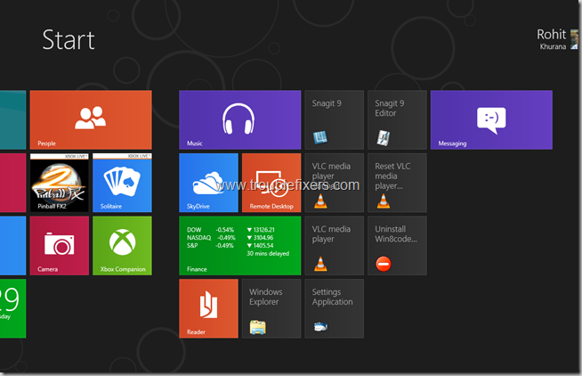 Windows 8 Tiles Move, remove, resize and re-position (10)
