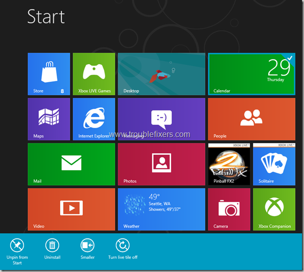 Windows 8 Tiles Move, remove, resize and re-position (5)