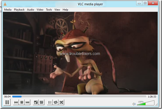 Windows 8 Video Running In VLC Player 2