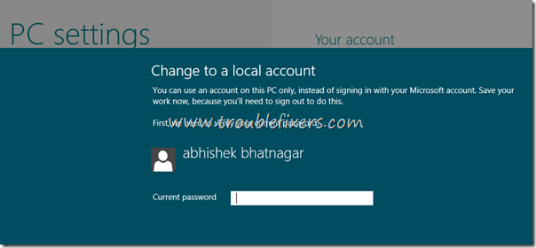 live account in windows 8