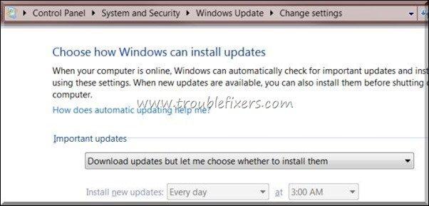 make windows updates does not restart computer