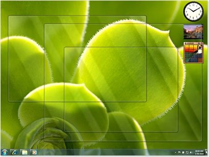 enable Peek at desktop in windows 8