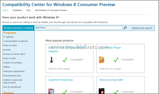 windows 8 compatibile apps lists