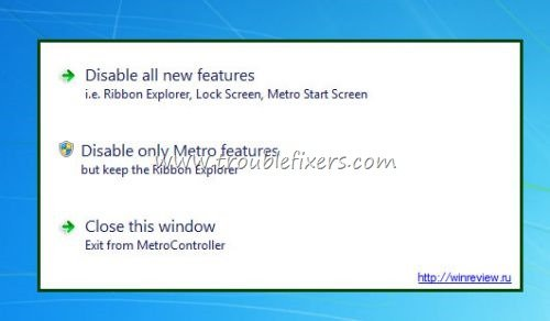 windows 8 metro UI controller