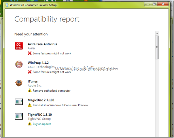 windows-8-non-compatible-apps-report