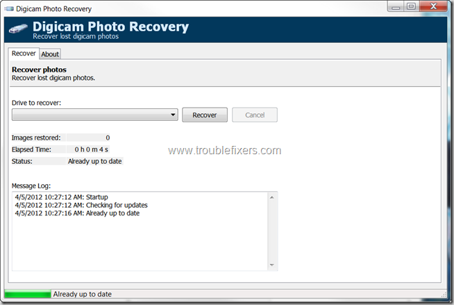 Digicam Photo Recovery Freeware Application