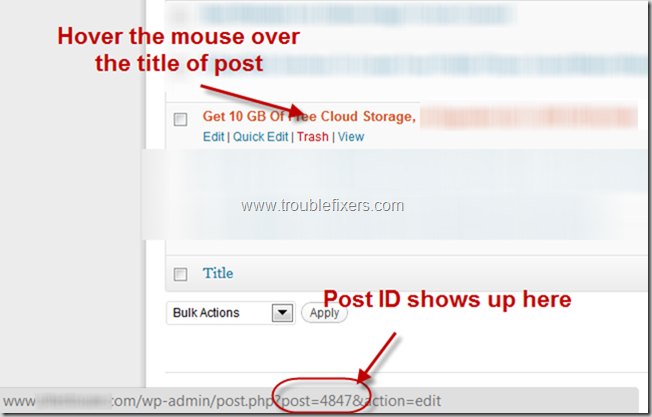 Get posts ids to make noindex and nofollow