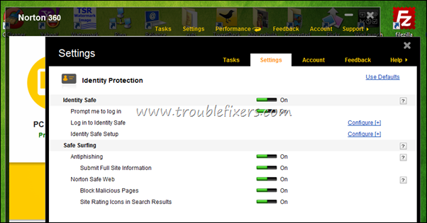Norton 360 Indentity Protection