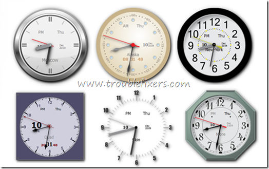 desktop clocks windows